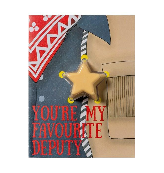You're My Favourite Deputy Blaster Card - exxab.com