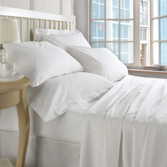Hotel luxury double white bed sheets set 300 thread count 100% cotton exxab.com