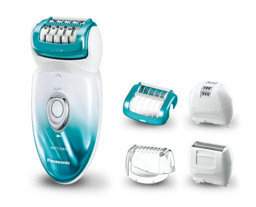 Panasonic ES-ED70-P461 Epilator - Rechargeable - 48 Tweezers Foam- 5 Attachment