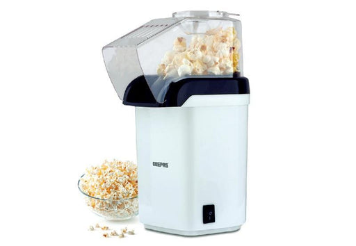 Geepas GPM840 white hot air popcorn maker 1200 watt exxab.com