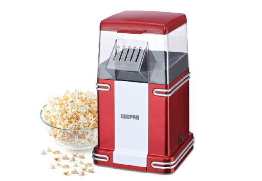 Geepas GMP841 Red hot air popcorn maker 1200 watt exxab.com