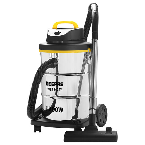 Geepas GVC19012  Wet & Dry Stainless Steel Vacuum Cleaner exxab.com