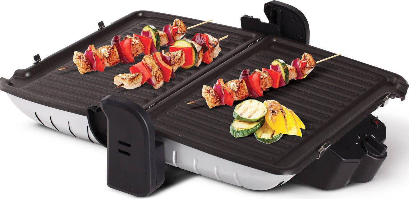 Geepas5458 electric Multi functional grill & barbecue 1600W stainless steel toaster with non-stick plate