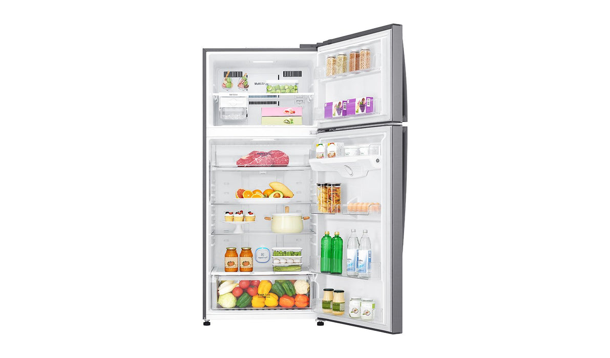 LG Top Mount Ref,516 LTR, LED Display, Silver