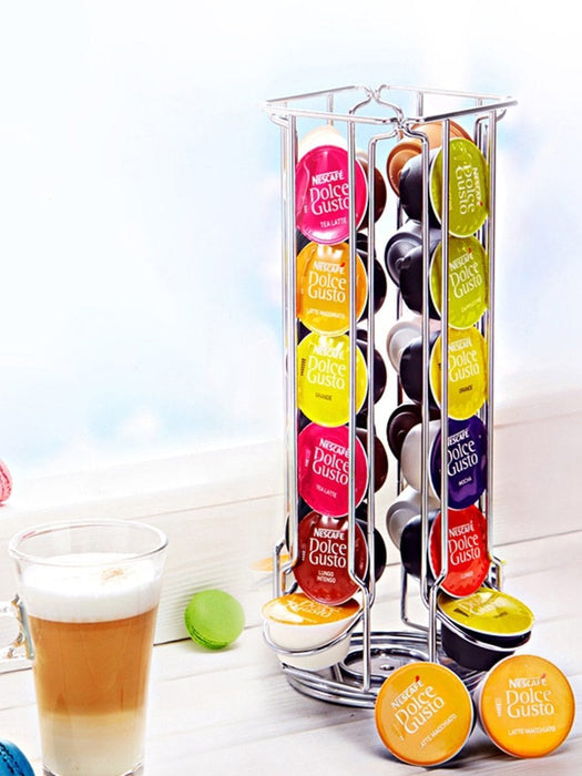 Coffee capsules rack holder stainless steel stand exxab.com