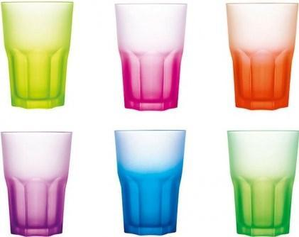 Luminarc New America Techno Colours HiBall Tumblers Glasses exxab.com