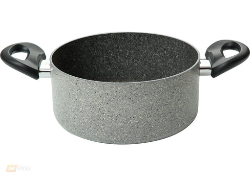 Ballarini Cortina non-stick granite cooking pot, casserole with 2 handles & glass lid exxab.com