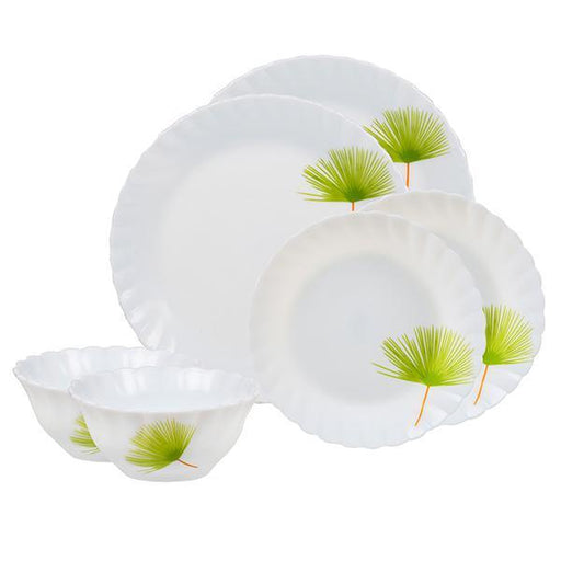 Set of 20 pieces porcelain dinner set, white color