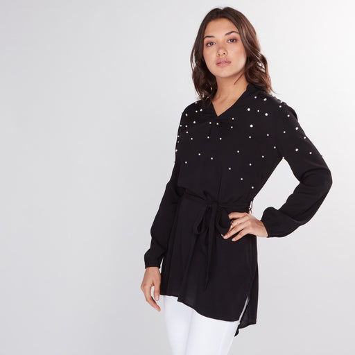 Women's Embellished Top with Long Sleeves exxab.com