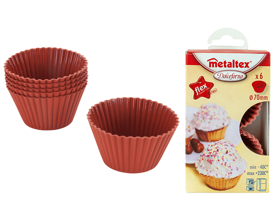 METALTEX Set of 6 Muffin Cups Diameter 7cm Flex exxab.com