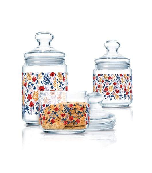 Luminarc set of storage pots, spices jars exxab.com