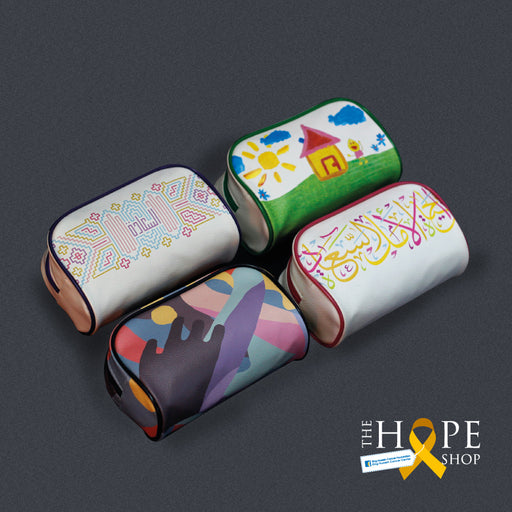 Multi use calligraphy designed pouches (to support the treatment of cancer patients) exxab.com