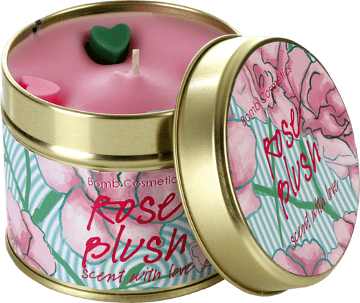 Rose Blush Tin Candle exxab.com