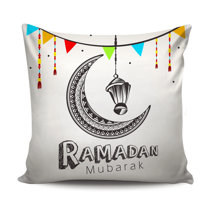 Ramadan Mubarak decoration cushion with simple design exxab.com