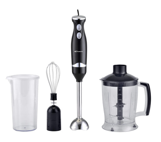 Conti SB-2401-B Multifunctional hand blender, 350 watt stick blender with food chopper and whisk exxab.com