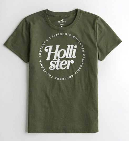 Hollister Girls Metallic Logo Graphic Tee exxab.com