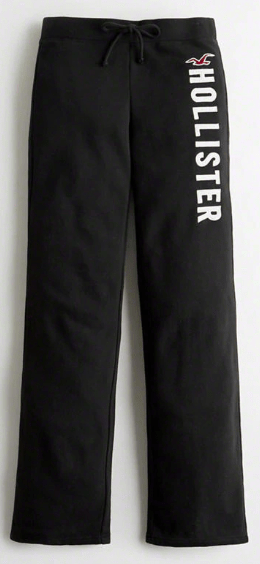 Hollister Girls Mid-Rise Straight-Leg Sweatpants