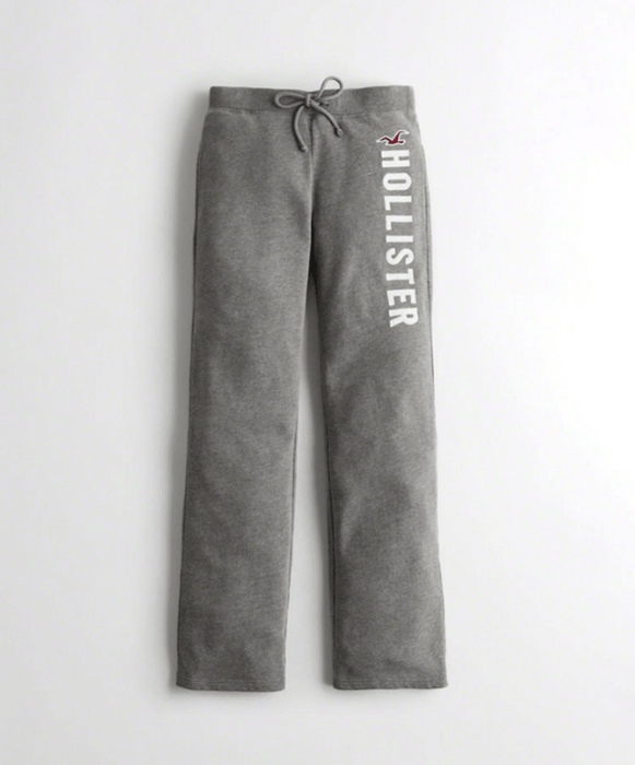 Hollister Girls Mid-Rise Straight-Leg Sweatpants exxab.com