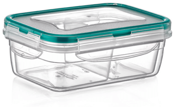 Irak LC-200 rectangle food storage container with 2 compartment exxab.com