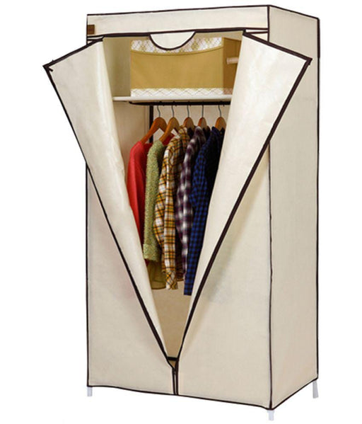 Fabric wardrobe portable and folding for clothes storage exxab.com