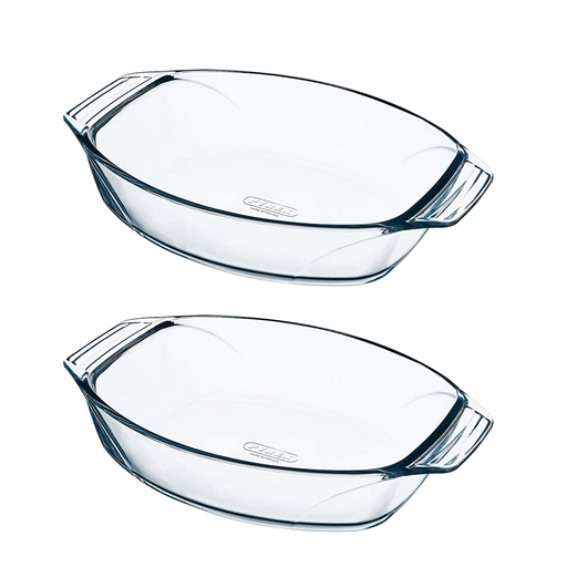 Pyrex 912S803 Optimum Set of 2 Oval Dish W/ Hanlde exxab.com