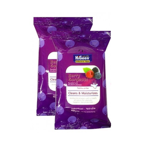 HiGeen Berry Gorgeous Wipes 15 Pieces exxab.com