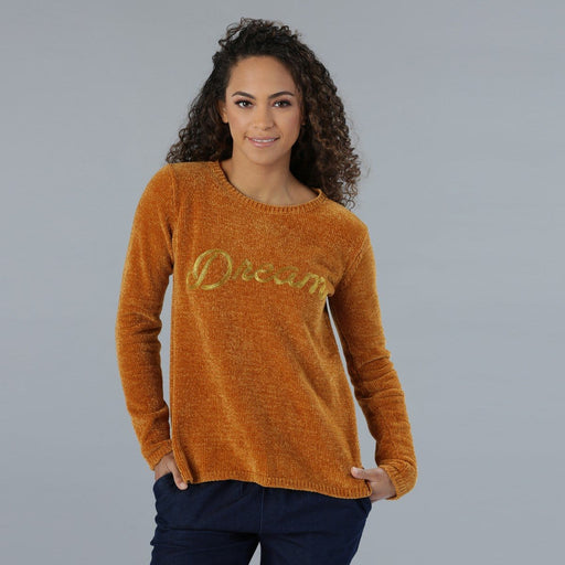 Embroidered Round Neck Sweater with Long Sleeves - exxab.com