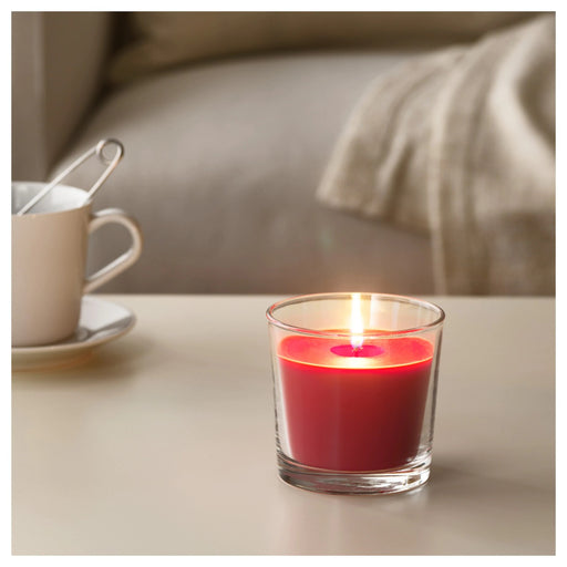 Scented Candle in Glass, Red Garden Berries 25 Hr exxab.com