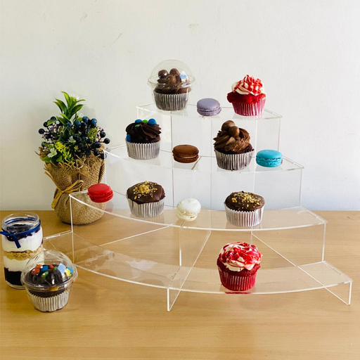 Acrylic Curve Cup Cake Stand exxab.com