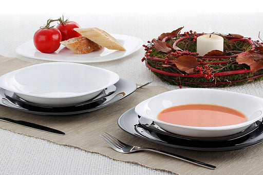 Luminarc Carine White/Black Dinner Set