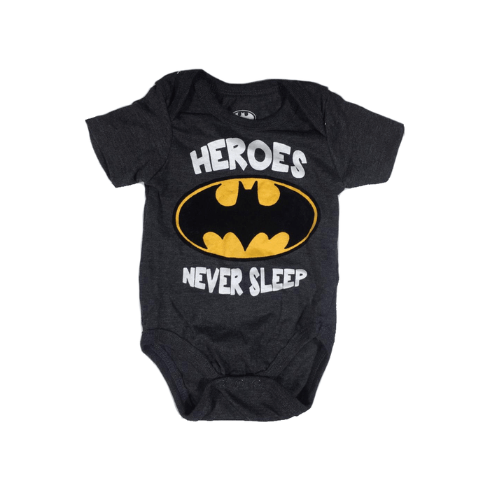 "1Pc Baby Romper ""Heroes Never Sleep"" one size for New Born. exxab.com"