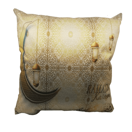 Ramadan decoration cushion with golden lanterns designs