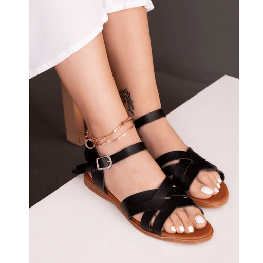 Women's Summery revealing sandals with thin shoe insole, Size 38 - exxab.com