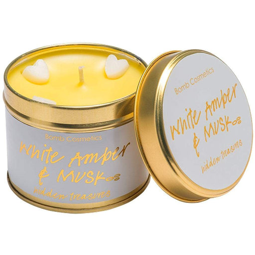 White Amber & Musk Tin Candle exxab.com