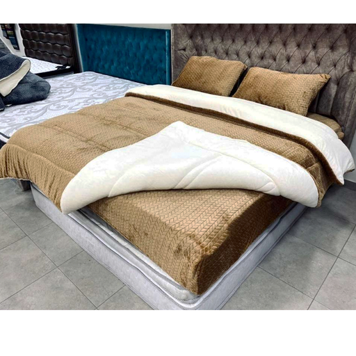 Winter Fur Bed Cover Set Double Face exxab.com