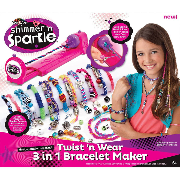 NEW BOY17039 CRA Z ART-SHIMMMER N SPARKLE 3 IN 1 TWIST,WEAR JEWELRY & FASHION MAKER - exxab.com