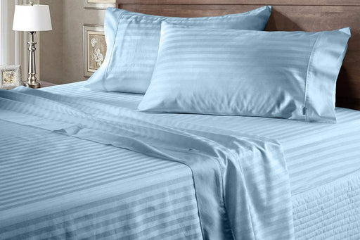 Cotton 100% Striped 300T King Bed Cover Set exxab.com