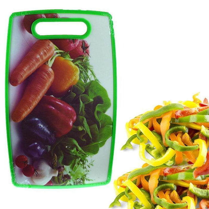 Rectangular cutting board with vegetables print exxab.com