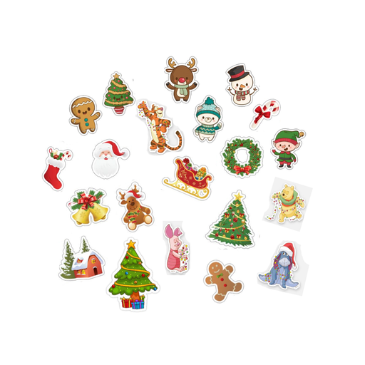 Cute Christmas Mini Stickers 15 Pieces exxab.com