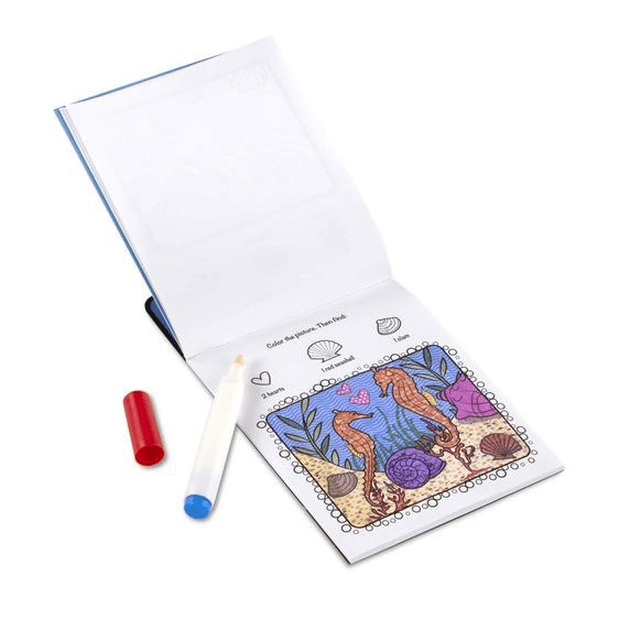 Melissa A Doug 5358 Color Blast, No -Mess Coloring Pad- Sea Life exxab.com