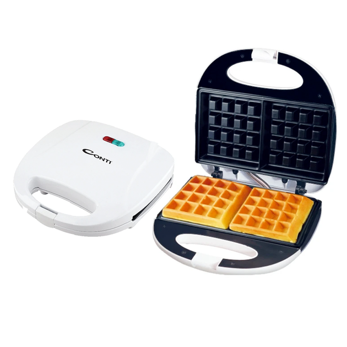 Conti WGC-1525 White electric waffle maker 810 watt 2 pieces exxab.com