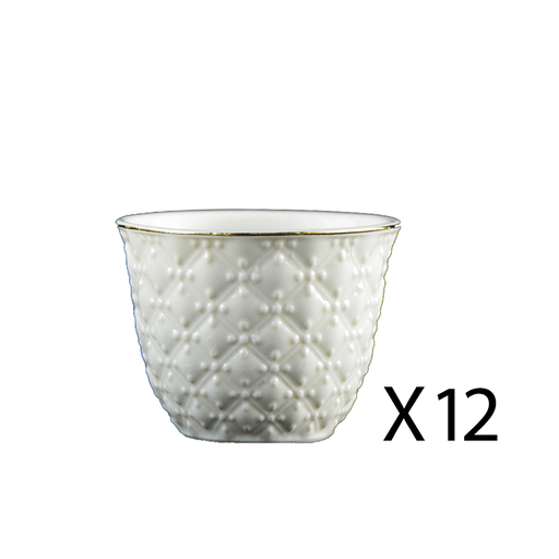Arabic coffee cups white 12 pcs
