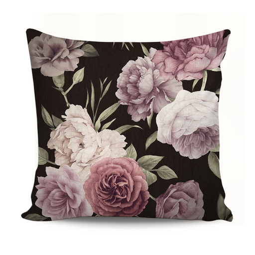 Home Decor Cushion Nude Flowers With Black Background exxab.com