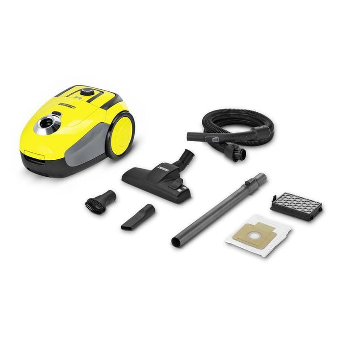 Karcher VC 2 Dry vacuum cleaner With Dust Bag 1100W Yellow - exxab.com