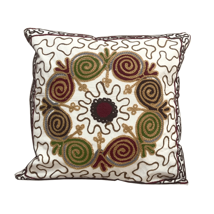 Home decoration cushion with handmade embroidered Desgin 3 - exxab.com