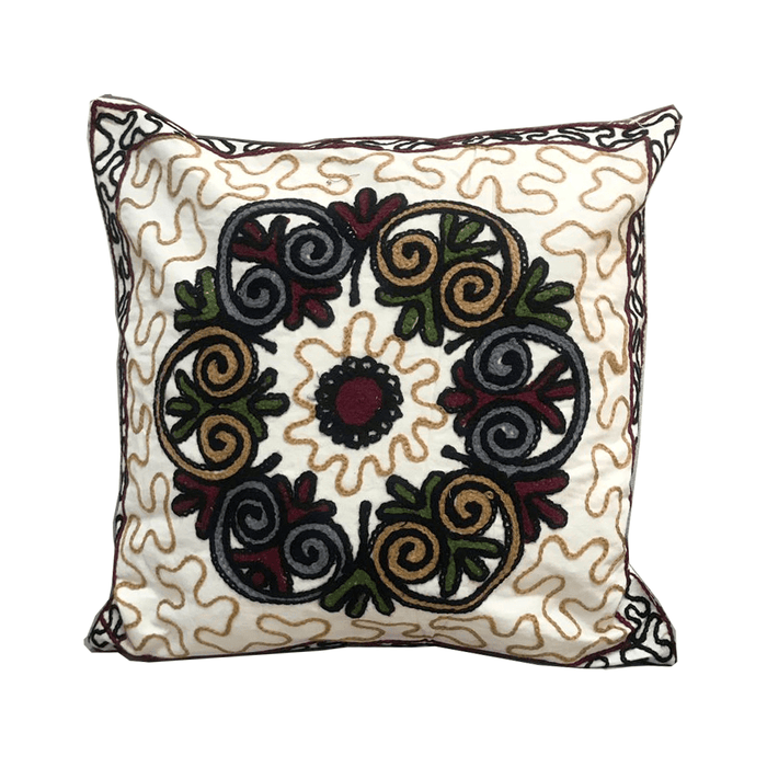 Home decoration cushion with handmade embroidered Desgin 6 exxab.com