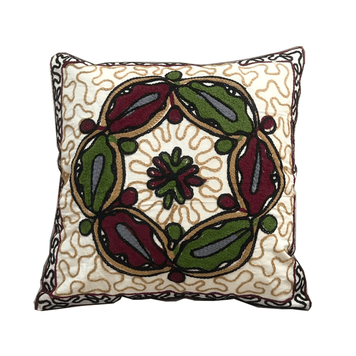 Home decoration cushion with handmade embroidered Desgin 2 exxab.com