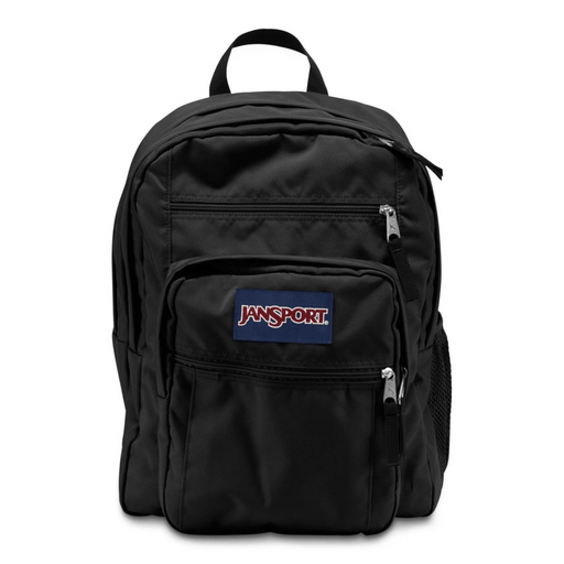 JanSport Big Student Black backpack, 34 liter school bag exxab.com