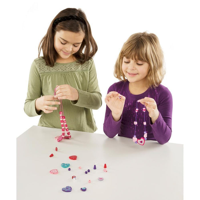 Melissa A Doug  4175 Sweet Hearts Bead set with 120 wooden beads exxab.com