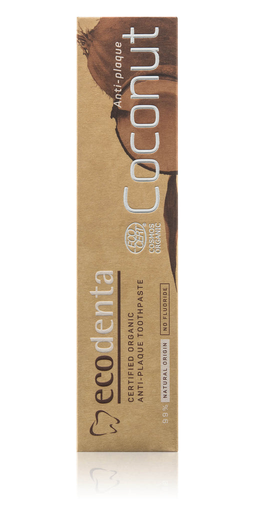 ECODENTA Anti-Plaque Toothpaste With Coconut Oil, 100ml exxab.com